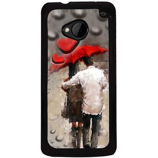 Ayaashii A Couple In A Rain Back Case Cover for HTC One M7::HTC M7