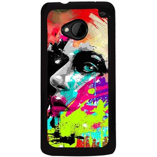 Ayaashii The Painted Face Back Case Cover for HTC One M7::HTC M7