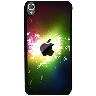 Ayaashii Colorful Apple Logo Back Case Cover for HTC Desire 820::HTC Desire 820Q::HTC Desire 820S