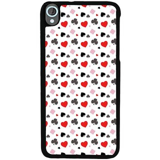 Ayaashii Play Cards Symbols Pattern Back Case Cover for HTC Desire 820::HTC Desire 820Q::HTC Desire 820S