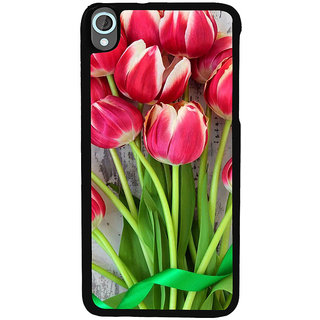 Ayaashii Bunch Of Lotus Back Case Cover for HTC Desire 820::HTC Desire 820Q::HTC Desire 820S
