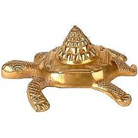 Shree Yantra On Wish Fulfilling Tortoise - Metal Tortoi