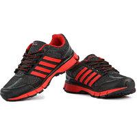 Austin-Nicholas Mens Black Red Sport Shoes