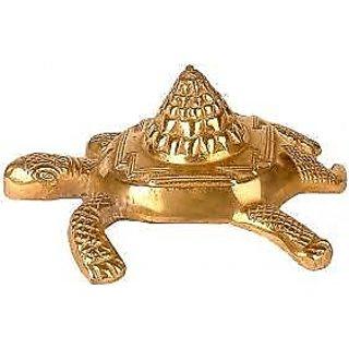 Shree Yantra on Wish Fulfilling Tortoise - Metal Tortoise having Shree  Yantra