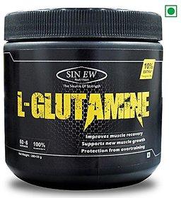 Sinew Nutrition 100 Pure L-Glutamine Powder 330gm (30gm - 10 FREE) - 60+6 Servings
