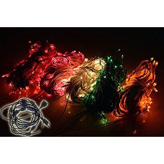 ASCENSION Set of 6 MULTICOLOUR Rice lights With 6+1 connector Serial bulbs Random Colour 5M