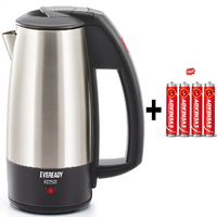Eveready Kettle - 0.5ltr - KET501 - 1000W With  Free Eveready 4 Battery