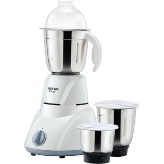 Eveready SLICK 500W 3Jar Mixer Grinder With Free 10 Eveready Battery