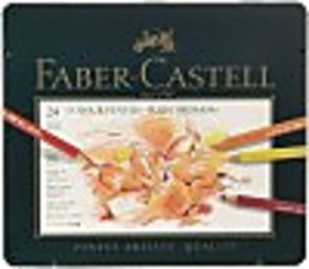 Faber-Castell Polychhromos Round Shaped Color Pencils (Set Of 1, Multicolour)