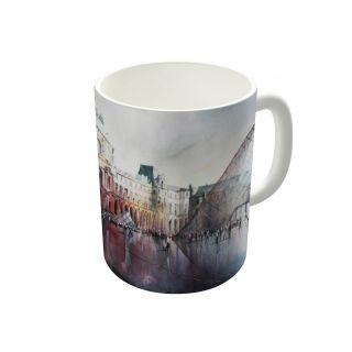 Dreambolic Le Louvre Paris Watercolor Coffee Mug-DBCM21731