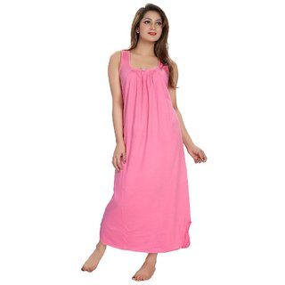 Buy Be You Fashion Women s Cotton Night Gown (Pink) Online - Get 21% Off 060e86143