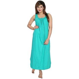 Be You Fashion Women's Cotton Night Gown (C-Green)