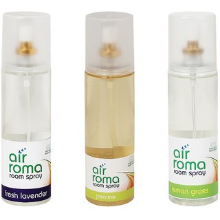 AirRoma Combo of 3 Fresh Lavender, Jasmine & Lemon Grass Air Freshener Sprays 200ml Each