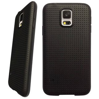 Soft Black Dotted Back Cover Black For Reliance LYF FLAME 6