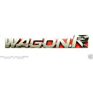 LOGO WAGON R MONOGRAM EMBLEM CHROME Maruti Suzuki WAGON R VXi LXi k10 ZXi