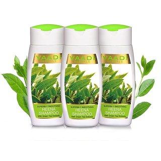 Vaadi Herbals - Superbly Smoothing Heena Shampoo with Green Tea Extracts (110 ml x 3)