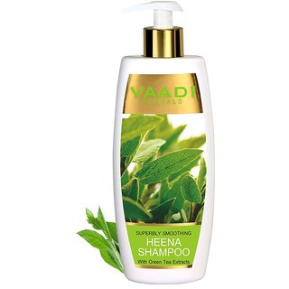 Vaadi Herbals - Smoothing Heena Shampoo with Green Tea Extracts (350 ml)