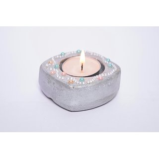 Handcrafted Small Stone T-Light Holder