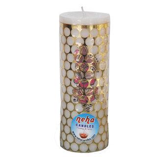 Long Medium Round White Pillar