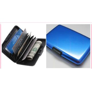Metallic Blue Credit Cards Wallet