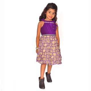 Buy lecxy violet midi frock (4-5 years) Online - Get 45% Off 3a49d8023