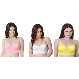 Bahucharaji Multicolor Plain Push-Up Bra