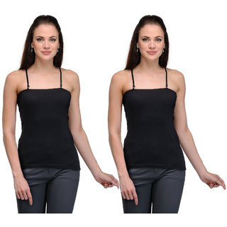 Dealseven Black Plain T-Shirt Bra