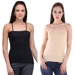 Dealseven Beige & Black Plain T-Shirt Bra