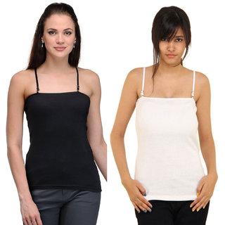 Dealseven Black & White Plain T-Shirt Bra