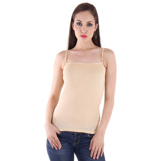 Dealseven Beige Plain T-Shirt Bra