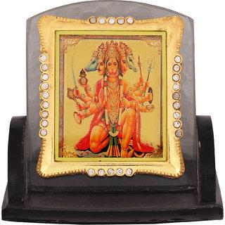 Leganza Hanuman Car Dashboard Idol in Glass with Black base