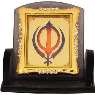 Leganza Khanda Car Dashboard Idol in Glass with Black base