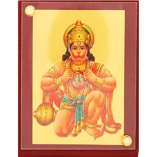 Leganza Hanuman Car Dashboard Idol in Gold Plating with Brown base