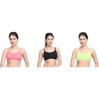 Bahucharaji Multicolor Plain Sports Bra