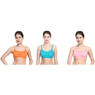 Bahucharaji Multicolor Plain Sports Bra