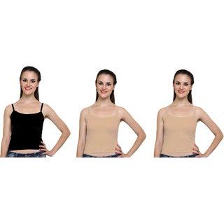 Dealseven Black & Beige Plain T-Shirt Bra