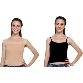Dealseven Black & Beige Plain T-Shirt Bra