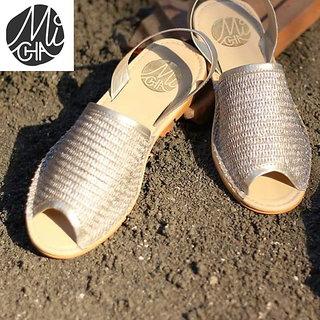 MiCha comfortable silver sandal