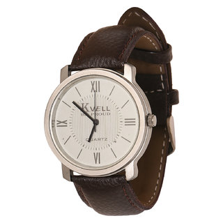 Kvell Be Proud Round Dial Brown Analog Watch For Men -UMW-013
