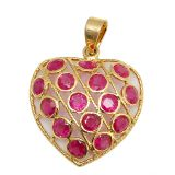 Clarity Gold Ruby 18K Yellow Gold Pendant -Pd 5189