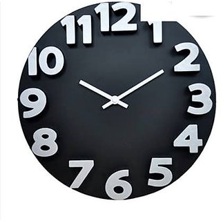 Analog Round  Inch Look Wall Clock