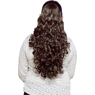 Homeoculture 24 inches Brown Synthetic Hair Extension for Instant Styling
