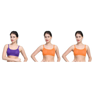 1b70ef1e5c18f Buy Dealseven Purple Orange Plain Sports Bra Online - Get 71% Off