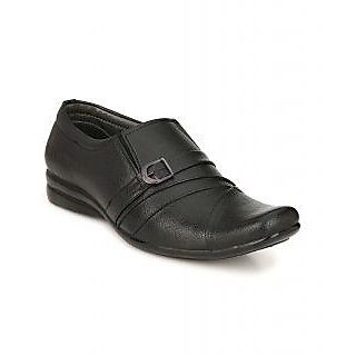 Tarsal Men Black Slip on Formal Shoes