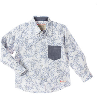 Cotton Printed Shirt With Front Pocket