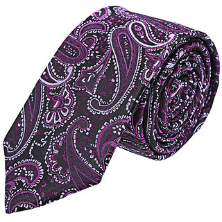 Tossido Trendy Purple Slim Neck-Tie