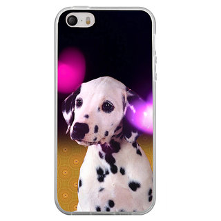 ifasho Black and White Dot Dog Back Case Cover for Apple Iphone 4