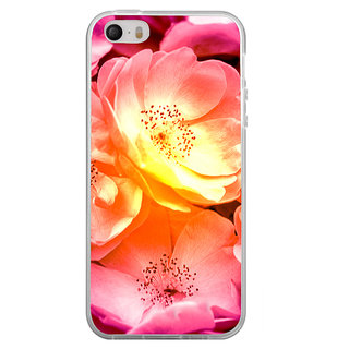ifasho Flowers Back Case Cover for Apple Iphone 4