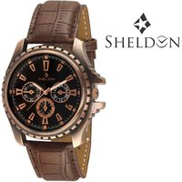 Sheldon Brown Leather Analog Watch For Men