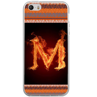 ifasho alphabet name series M Back Case Cover for Apple Iphone 4